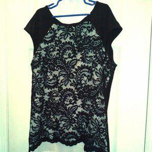 WhiteHouse BlackMarket Lace Sleeveless Blouse XXS